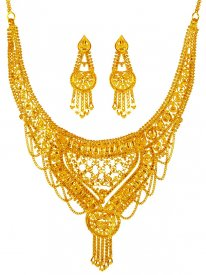 22K Yellow Gold Necklace Set