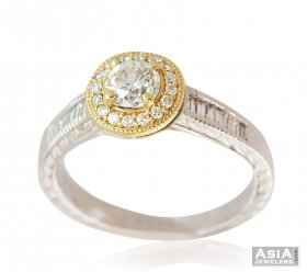 Center Solitaire Diamond Ring 18k ( Diamond Rings (Ladies) )