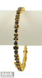 22k Gold Precious Stone Bangle(1pc) ( Precious Stone Bangles )
