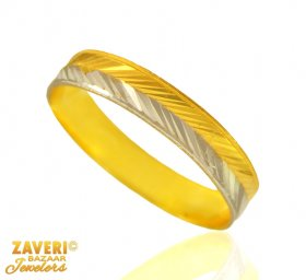 22 Kt Gold Two Tone Band (Ring)