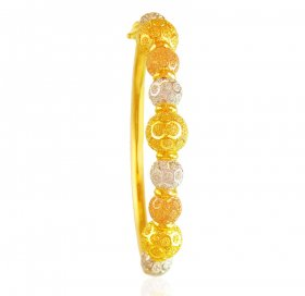 22K Gold Three Tone Kada (1PC)