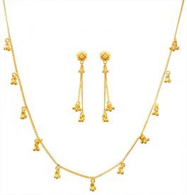 22kt Gold Fancy Necklace Set ( 22K Light Necklace Sets )