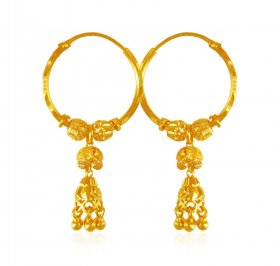 22K Gold Hoop Earrings ( 22K Gold Hoops )