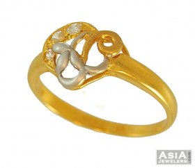 22k Gold Two Tone Ring ( 22K Gold Rings )