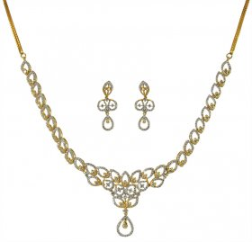 18kDiamond Yellow Gold Necklace Set