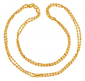 22 Karat Gold Layered Tulsi Mala ( Long Chains (Ladies) )