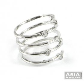 18K Gold Spiral Ring ( White Gold Rings )