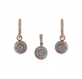 18K Yellow Gold Diamond Pendant Set ( Diamond Pendant Sets )