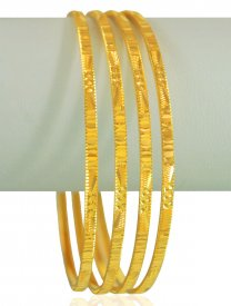 22Kt Gold Bangles Set(4PCS) ( Gold Bangle Sets )