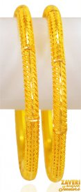 22kt Gold Bangles Set (set of 2) ( 22K Gold Bangles )