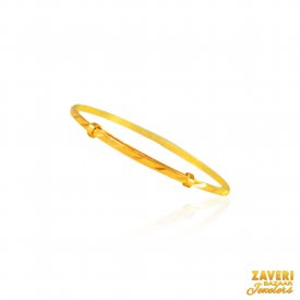 22K Gold Plain Bangle  (1PC) ( Baby Bangles )