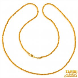 22 kt Fancy Gold Rope Chain ( Plain Gold Chains )