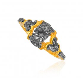 22KT Gold Signity Ring for Ladies
