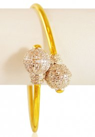 22k Gold Cz studded Bangle  ( Gold CZ Bangles )