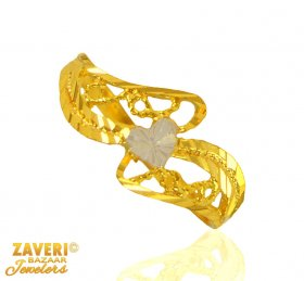 22 Kt Gold Two Tone Ring