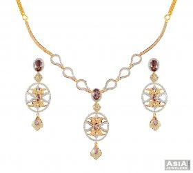 Beautiful Gold Necklace set ( Stone Necklace Sets )