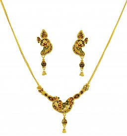 Exclusive Peacock Necklace Set ( 22K Light Necklace Sets )