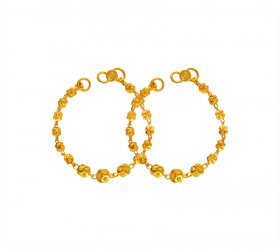 22K Gold Kids Maniya (2PC) ( Baby Bracelets )
