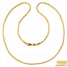 22 Karat Gold Fancy Chain  ( Plain Gold Chains )