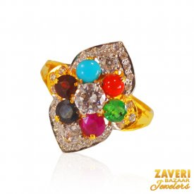 22k Gold Stones Ring ( Gemstone Rings )
