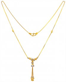22K Gold Fancy Chain for Ladies ( Gold Fancy Chains )