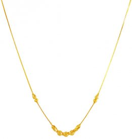 22Kt Gold Dokia Chain 18In ( Gold Fancy Chains )