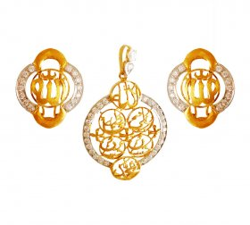 22kt Gold Panjtan Pak Pendant Set ( Gold Fancy Pendant Sets )