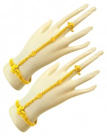 22kt Gold Fancy Filigree Panja (2 Pcs) ( 22K Ladies Bracelets )