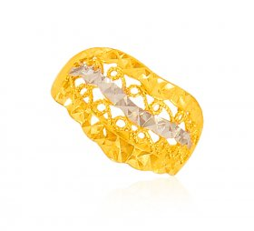 22 K Gold Two Tone Ring ( 22K Gold Rings )