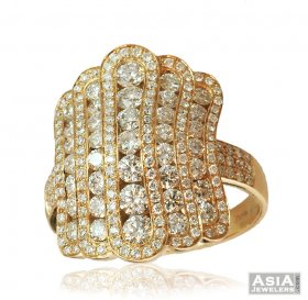 Designer 18K Rose Gold Diamond Ring ( Diamond Rings (Ladies) )