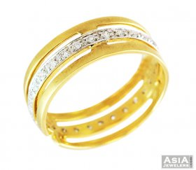 18K Gold Diamond Mens