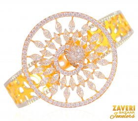 22 Kt Gold Kada with CZ ( Gold CZ Bangles )