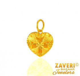 Heart Shape Fancy Pendant ( Gold Fancy Pendants )