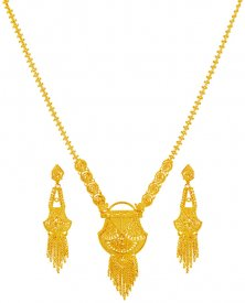 22 Karat Gold Long Necklace Set ( 22K Necklace Sets (Long) )