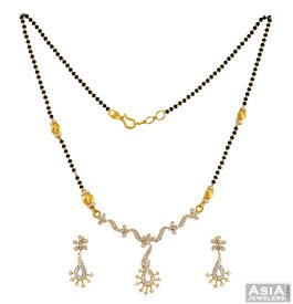 22K Gold Two Tone Mangalsutra Set ( Gold Mangalsutra Sets )