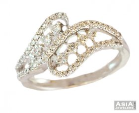 18K Sophisticated White Gold Ring ( Diamond Rings (Ladies) )
