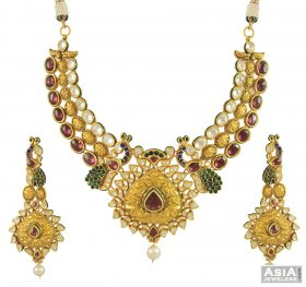 22k Antique Bridal Kundan Set