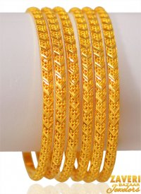 22K Gold Bangles Set of 6 ( Gold Bangle Sets )
