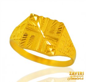 22 kt Gold Mens Ring ( Men`s Rings )