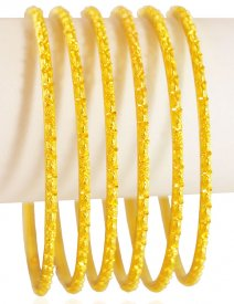 22KT Gold Filigree Bangles(6pcs)