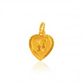 Gold Fancy (E) Pendant ( Gold Initial Pendants )