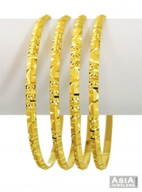 22Kt Gold Bangles (2 Pcs Only) ( 22K Gold Bangles )