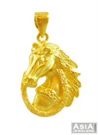 Indian Gold Horse Pendant