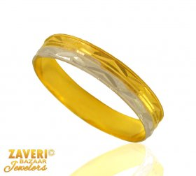 Fancy Gold Band with 2 tone finish ( Gold Wedding Bands )