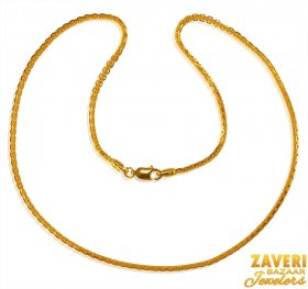 22kt Gold Chain 16 inches ( Plain Gold Chains )