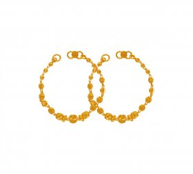 22K Gold Beads Maniya (2PC) ( Baby Bracelets )