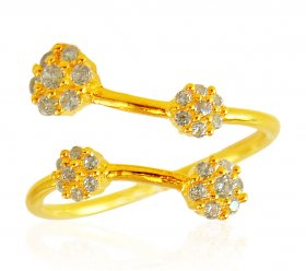 22Kt Gold Cubic Zircon Ring ( Stone Rings )