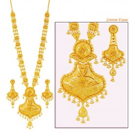 Designer Bridal Filigree Patta Haar ( 22K Necklace Sets (Long) )