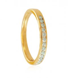 18K Gold Diamond Band ( Diamond Rings (Ladies) )