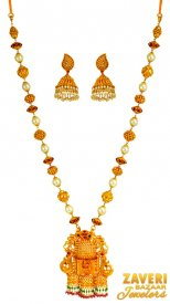 Exquisite 22k Antique Necklace Set ( 22K Antique Necklace Sets )